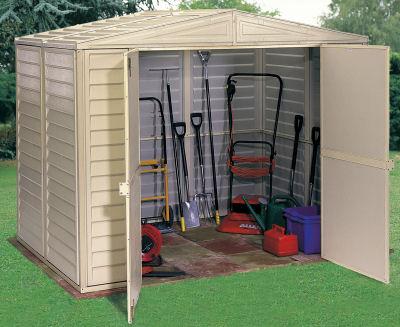 8x8 Plastic Sheds UK cheap 8x8 plastic garden sheds duramax 8x8